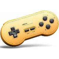 Manette Jeux Video Manette Gamepad bluetooth jaune 8Bitdo SN30 GP pour Switch - Just For Games
