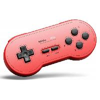 Manette Jeux Video Manette Gamepad bluetooth rouge 8Bitdo SN30 GP pour Switch - Just For Games