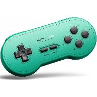 Manette Jeux Video Manette Gamepad bluetooth verte 8Bitdo SN30 GP pour Switch - Just For Games