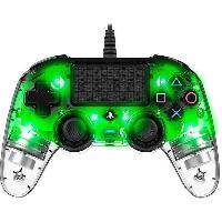 Manette Jeux Video Manette Nacon lumineuse pour PS4 - Translucide Verte