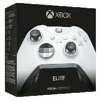 Manette Jeux Video Manette Xbox One sans fil Elite Blanche - Microsoft