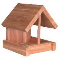 Mangeoire - Tremie Natura mangeoire en bois de cedre - 16x15x13 cm - Naturel - Pour oiseaux