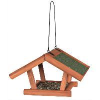 Mangeoire - Tremie Natura mangeoire suspendue - 30x18x28 cm - Brun - Pour oiseaux