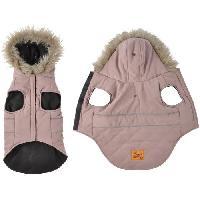 Manteau Doudoune Chuck - Capuche fausse fourrure doublee polaire - 30 cm - Kaki - Pour chien