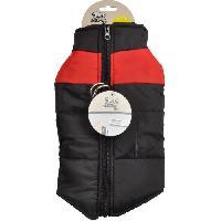 Manteau Doudoune Jack - Polyester - 30 cm - Bicolore rouge et noir - Pour chien - Generique