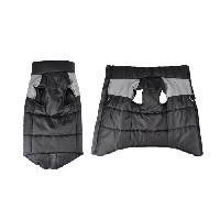 Manteau Doudoune Jack - Polyester - 35 cm - Bicolore gris et noir - Pour chien