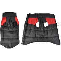 Manteau Doudoune Jack - Polyester - 35 cm - Bicolore rouge et noir - Pour chien - Generique