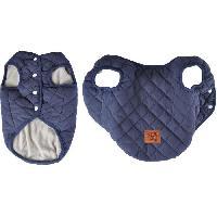 Manteau Doudoune James - Matelassee polyester double polaire - 30 cm - Bleu - Pour chien