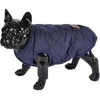 Manteau Doudoune James - Matelassee polyester double polaire - 40 cm - Bleu - Pour chien