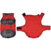 Manteau Doudoune Sam - Polyester double polaire - 40 cm - Rouge - Pour chien