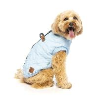 Manteau FUZZYARD Blouson Harnais MacGyver - 35-38.5 cm - Bleu clair - Pour chien