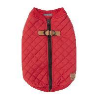 Manteau FUZZYARD Blouson Harnais MacGyver - 35-38.5 cm - Rouge - Pour chien
