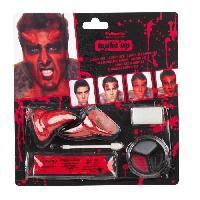 Maquillage - Coloration Deguisement AMSCAN Set de Maquillage Halloween - Diable