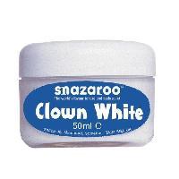 Maquillage - Coloration Deguisement SNAZAROO Blanc de clown pot de 50ml