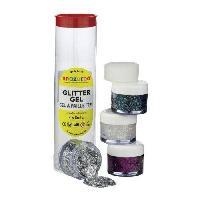 Maquillage - Coloration Deguisement SNAZAROO Set gels pailletes 48ml -argent. diamant. multicolor. violet-
