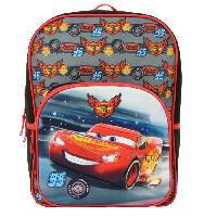 Maroquinerie CARS - SAC A DOS Primaire Garcon 30x12x41 NOIRROUGE