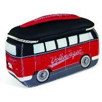 Maroquinerie Sac Neoprene Vw T1 Bus 3d - Rouge Noir - ADNAuto