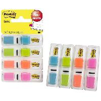 Marque-page POST-IT - Lot de 140 marque-pages étroits - Couleurs Vives en distributeurs blancs