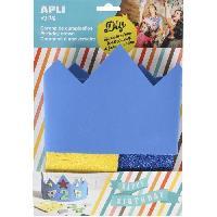 Masque - Accessoire Visage APLI Sachet 1 Couronne en Mousse Bleue