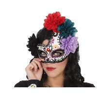 Masque - Accessoire Visage Masque fleurs Halloween Adultes Femmes