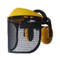 Masque - Cagoule De Soudeur - Lunette - Visiere JARDIN PRATIQUE Visiere de protection - Ecran grillage extra large avec anti bruit