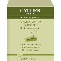 Masque Visage - Patch CATTIER Argile Verte Surfine 1 Kg