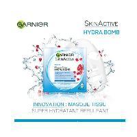 Masque Visage - Patch GARNIER Hydra bomb Skin Active Tissu a la grenade hydratant