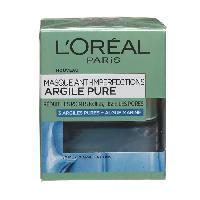 Masque Visage - Patch L'ORÉAL PARIS Masque Visage Anti-imperfections Argile Pure - 50 ml - L'oreal Paris