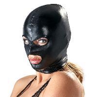 Masque ajuste en wetlook noir tres brillant