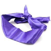 Masquer Bandeau en Satin Violet - 140 cm