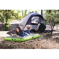 Matelas De Camping - Matelas Gonflable BESTWAY Matelas floqué Roll & Relax + Sac et Pompe - 188 x 99 x 22 cm