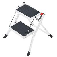 Materiel Chantier HAILO Marchepied Mini K 2 marches Blanc - 4310-001 -