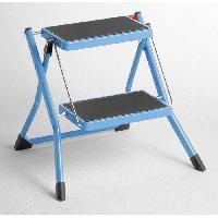 Materiel Chantier HAILO Marchepied Mini K 2 marches Bleu