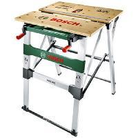 Materiel Chantier Table de travail Bosch - PWB 600 (Etabli repliable livré avec 4 Cales de Serrage)