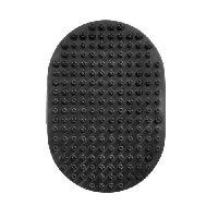 Materiel De Toilettage EBI Brosse de massage 13.5x9cm - Noir - Pour chien