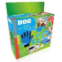 Materiel De Toilettage Kit de toilettage 5 pieces - Tuyau 250 cm. 2 raccords. 1gant. 1 serviette - Pour chien - Aucune