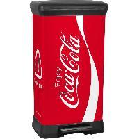 Materiel D'entretien CURVER Poubelle a pedale Coca Cola - 50L - Rouge
