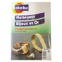 Materiel D'entretien DELU Chamoisette impregnee nettoyage bijoux et or - 35 x 28 cm