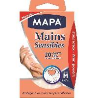 Materiel D'entretien Gants Mains Sensibles Taille M x20 - Generique