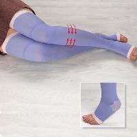 Materiel Paramedical Jambiere contention pour la nuit VITAEASY - Taille L/XL - Confortables. avec pieds ouverts Aucune