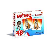 Memory CLEMENTONI Memo - Les Animaux Sauvages - Jeu de memorisation