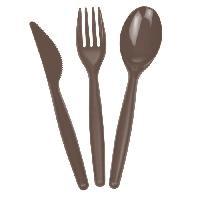 Menagere - Service Complet De Couverts  18 pieces menageres - Fourchettes couteaux Cuilleres - Chocolat
