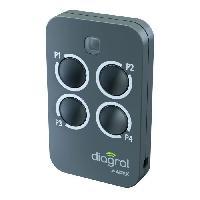 Menuiserie - Huisserie - Cloture DIAGRAL BY ADYX Télécommande 4 touches sécurité commande pour motorisations portails. portes de garages et volets