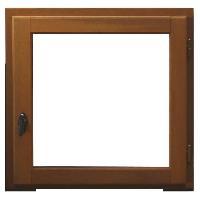 Menuiserie - Huisserie - Cloture Fenetre 1 vantail - 60x60 - Tirant droite - Marron