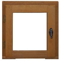 Menuiserie - Huisserie - Cloture Fenetre 1 vantail tirant droit - H45 x L40 cm - Bois exotique