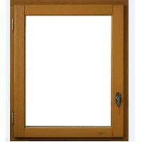 Menuiserie - Huisserie - Cloture Fenetre 1 vantail tirant gauche - H.75 x L.40 cm - Bois exotique