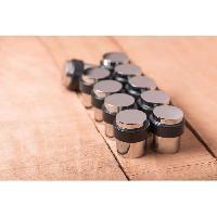 Menuiserie - Huisserie - Cloture METAFRANC butoir de sol - Alliage zinc chrome poli - 36 .5 x 40 mm