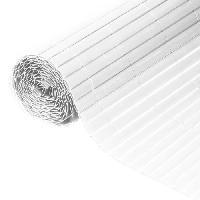Menuiserie - Huisserie - Cloture NATURE Canisse double face PVC - 1500 g-m2 - Set de fixation - Blanc - 1 x 3 m