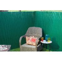 Menuiserie - Huisserie - Cloture NATURE Canisse double face PVC - 1500 g/m² - Set de fixation - Vert - 1 x 3 m