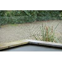 Menuiserie - Huisserie - Cloture NATURE Grillage pour parterre - HDPE vert - Maille losange 20 mm - 0.5x3 m
